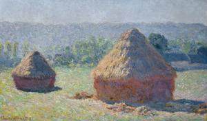Straw Ricks, End of summer, Giverny, 1891 by Claude Monet