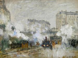 Streetside of the Gare St. Lazare, Seen Towards the Tunnel of Batignolles, 1877 by Claude Monet