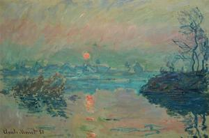 Sunset, 1880 by Claude Monet