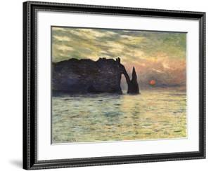 Sunset at Etretat, 1883 by Claude Monet