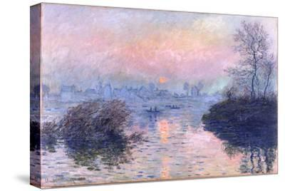 Sunset on the Seine at Lavacourt, Winter Effect