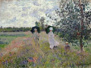 Taking a Walk Near Argenteuil by Claude Monet