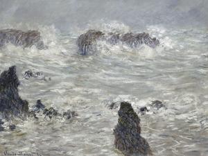 Tempête, côtes de Belle-île by Claude Monet