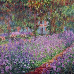 The Artist's Garden at Giverny by Claude Monet