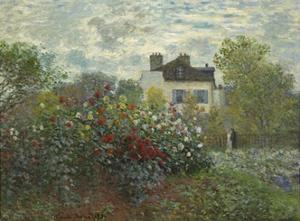 The Artist's Garden in Argenteuil, 1873 by Claude Monet