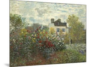 The Artist's Garden in Argenteuil (A Corner of the Garden with Dahlias), 1873 by Claude Monet