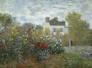 The Artist's Garden in Argenteuil, c.1873 by Claude Monet