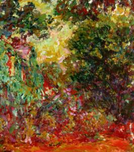 The Artist's House at Giverny, Seen from the Rose Garden, 1922-1924 by Claude Monet