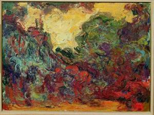The Artist's House from the Rose Garden, 1922-24 by Claude Monet