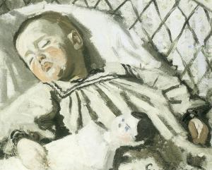 The Artist's Son Asleep by Claude Monet