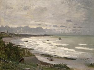 The Beach at Sainte Adresse, 1867 by Claude Monet