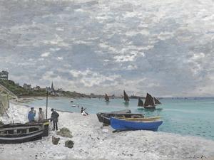 The Beach at Sainte-Adresse by Claude Monet