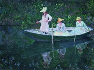 The Boat at Giverny (En Norvégienn) by Claude Monet