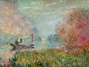The Boat Studio on the Seine, 1875 by Claude Monet