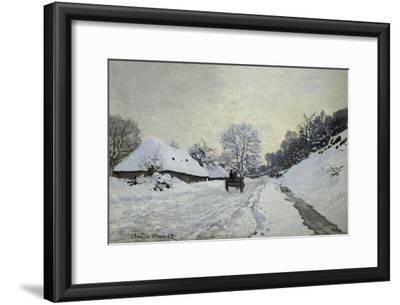 The Cart. Snow-Covered Road at Honfleur, Ca. 1867