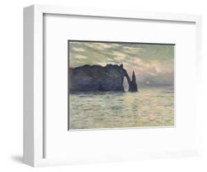 The Cliff, Etretat, Sunset, 1883 by Claude Monet
