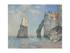 The Cliffs at Etretat by Claude Monet