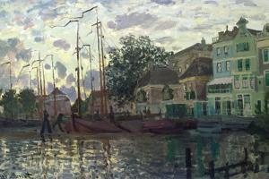 The Dam at Zaandam, Evening, 1871 by Claude Monet