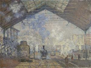 The Gare Saint-Lazare, 1877 by Claude Monet