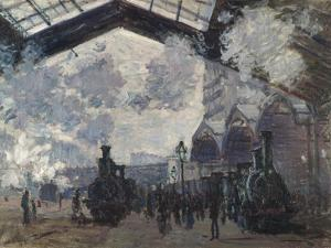 The Gare St-Lazare. 1877 by Claude Monet