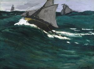 The Green Wave by Claude Monet