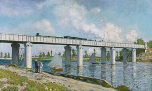 The Iron Track Bridge at Argenteuil; Pont Du Chemin De Fer a Argenteuil by Claude Monet