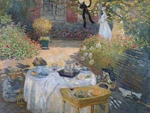 The Luncheon: Monet's Garden at Argenteuil, circa 1873 by Claude Monet