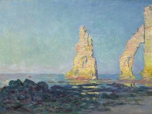 The Needle of Etretat, Low Tide; Aiguille D'Etretat, Maree Basse, 1883 by Claude Monet