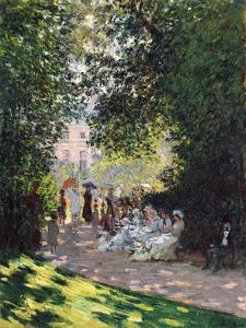 The Parc Monceau, 1878 by Claude Monet