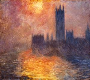 The Parliament Building in London During Sunset, 1904 by Claude Monet