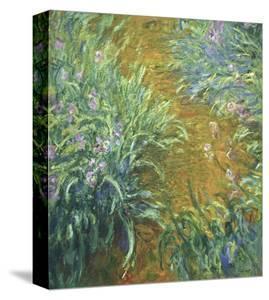 The Path in the Iris Garden by Claude Monet
