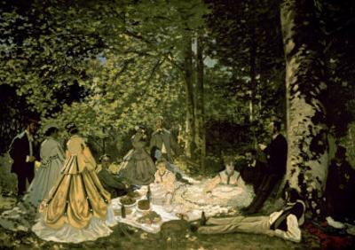 The Picnic by Claude Monet