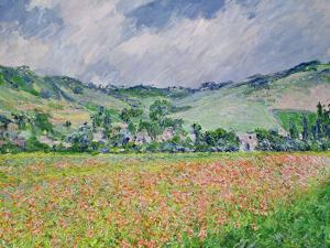 The Poppy Field Near Giverny, 1885 by Claude Monet