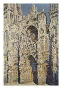 The Portal and the Tour d'Albane in the Sunlight, 1984 by Claude Monet
