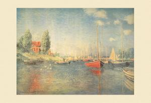 The Red Boats, Argenteruil by Claude Monet