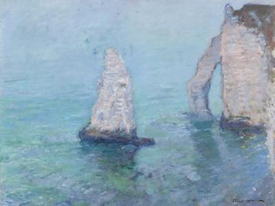The Rock Needle and the Porte D'Aval, C.1885 by Claude Monet