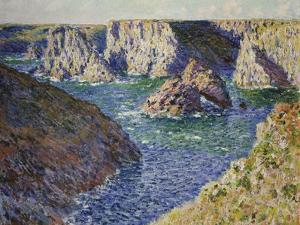 The Rocks of Belle Ile, 1886 by Claude Monet