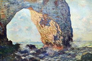 The Rocky Cliffs of Étretat (La Porte Man) [1] by Claude Monet