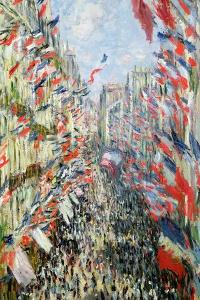 The Rue Montorgueil, Paris, Celebration of June 30, 1878 by Claude Monet