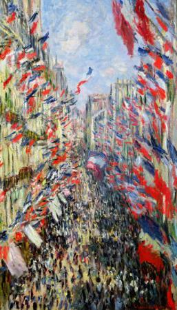 The Rue Montorgueil, Paris, Celebration of June 30, 1878 by Claude Monet