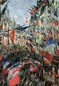 The Rue Saint-Denis, Celebration of June 30, 1878 by Claude Monet