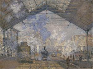 The Saint-Lazare Station, 1877 by Claude Monet