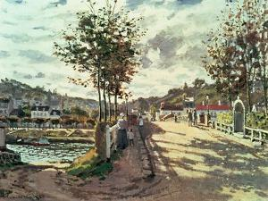 The Seine at Bougival, 1869 by Claude Monet
