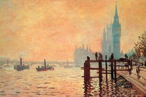 The Thames and Westminster by Claude Monet