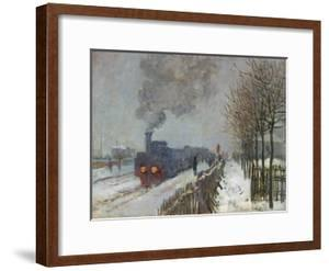 The Train in the Snow (Or: the Locomotive) 1875 by Claude Monet