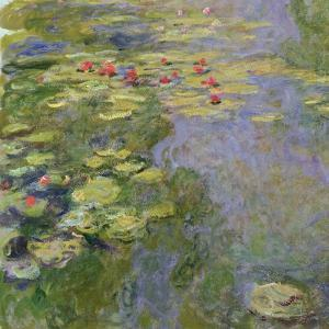 The Waterlily Pond, 1917-19 by Claude Monet