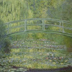 The Waterlily Pond and the Japanese Bridge by Claude Monet