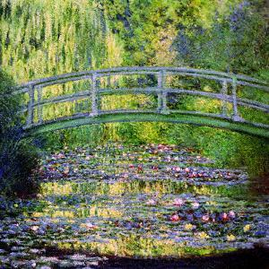 The Waterlily Pond with the Japanese Bridge, 1899 by Claude Monet