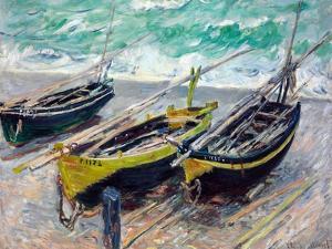 Three Fishing Boats by Claude Monet