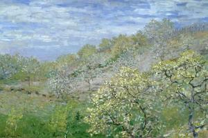 Trees in Blossom by Claude Monet